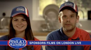 Pimlico Plumber Sponsor Ident 1 Heating up your evenings entertainment
